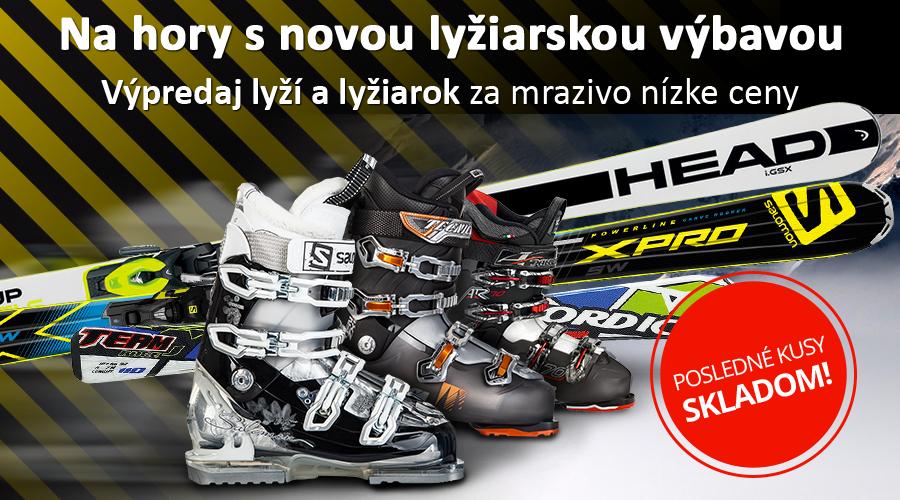 Výpredaj lyží a lyžiarok za mrazivo nízke ceny