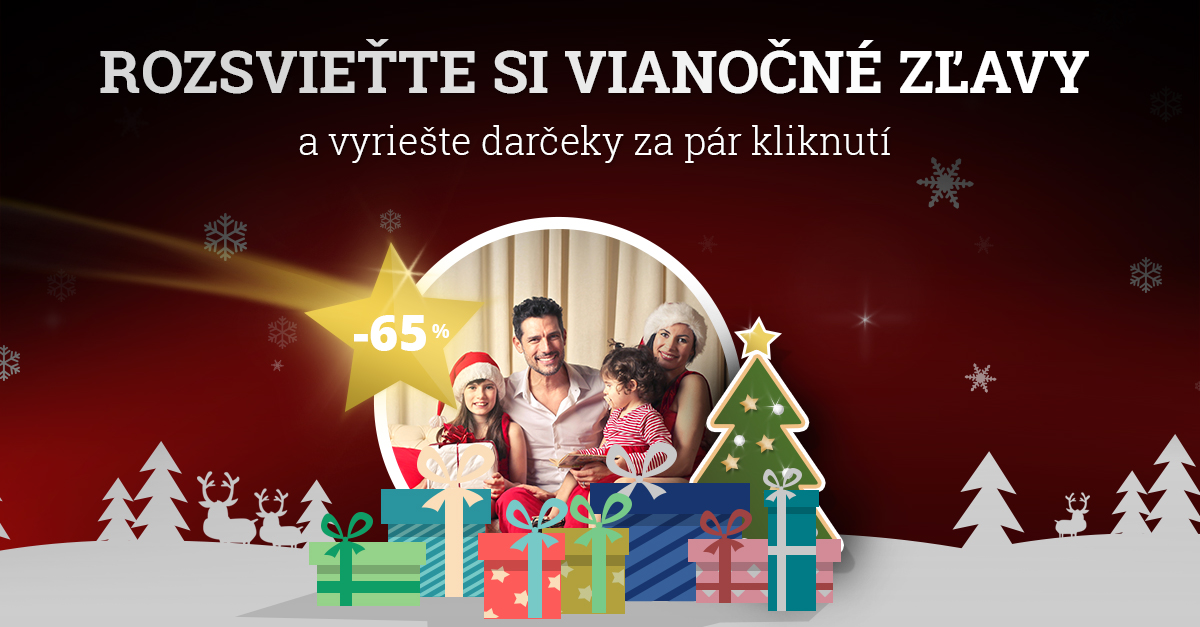 Nakúpte vianočné DARČEKY so ZĽAVOU AŽ 65 %!