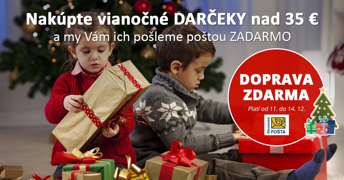 Nakúpte vianočné darčeky s DOPRAVOU ZDARMA