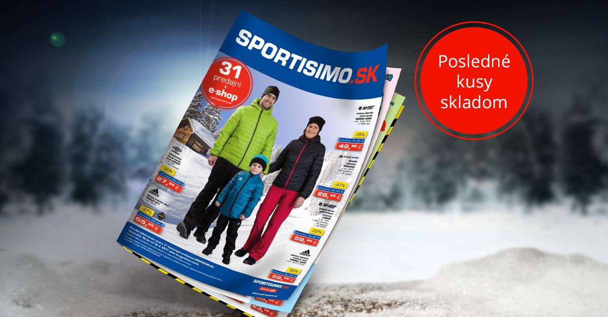 Nový AKČNÝ LETÁK: lyžiarska výbava, zimné oblečenie a ponuka pre futbalové tímy