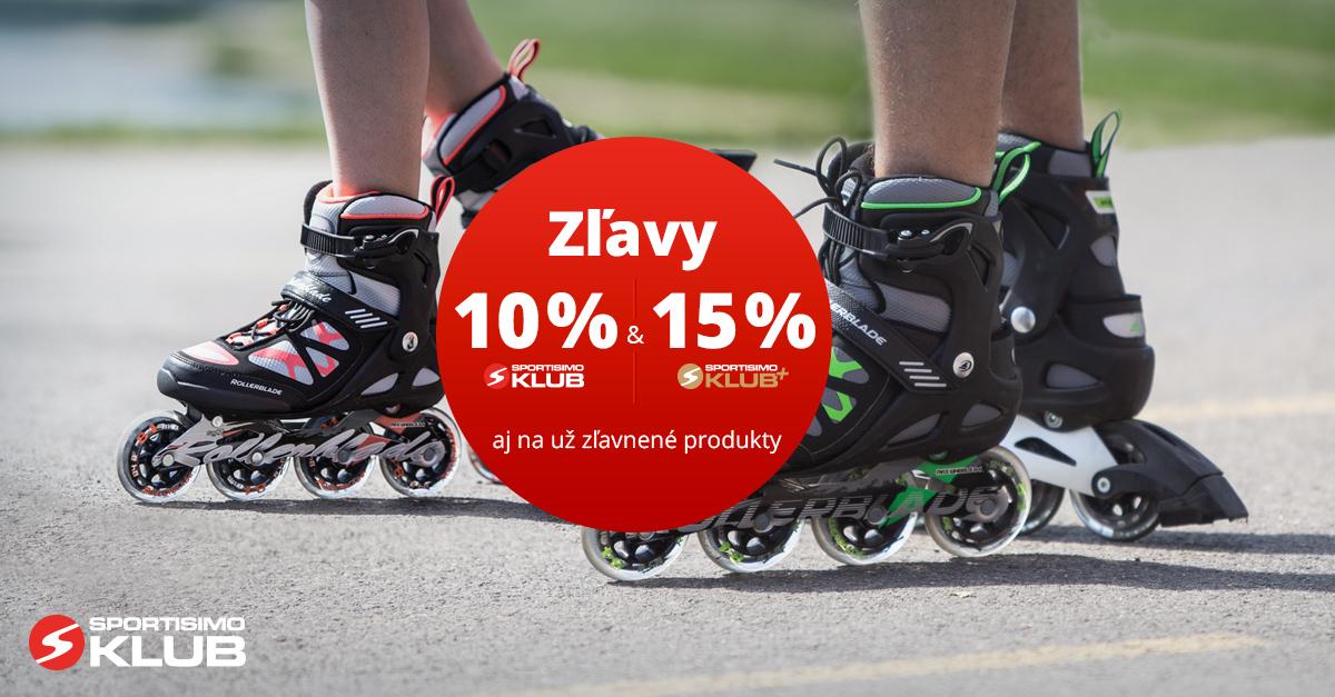 Akcia pre členov KLUBU a KLUBU+: Zľavy – 10 % / 15 % na INLINE KORČULE