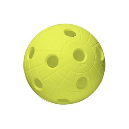 BALL CRATER NEON YELLOW - Florbalová loptička - Unihoc BALL CRATER NEON YELLOW