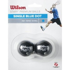 Wilson STAFF SQUASH 2 BALL BLU DOT
