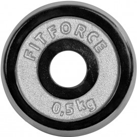 Fitforce NAKLADACÍ KOTÚČ 0,5KG CHROM