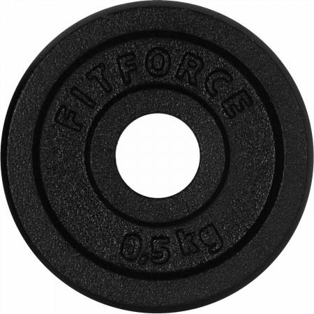 Nakladací kotúč - Fitforce NAKLADACÍ KOTÚČ 0,5KG ČIERNY