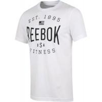 Reebok USA BRAND GRAPHIC TEE - Pánske tričko