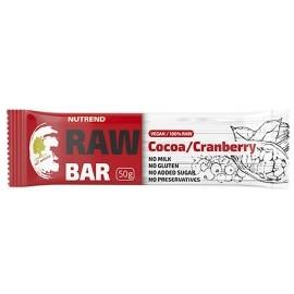 Nutrend RAW BAR 50G KAKAO+BRUSNICA - Ovocná tyčinka