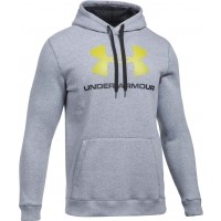 Under Armour RIVAL FITTED GRAPHIC HOODIE - Pánska mikina