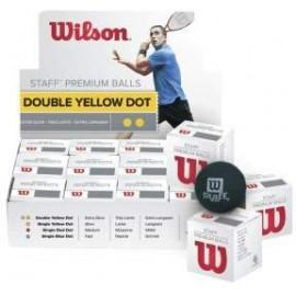 Wilson STAFF SQUASH BALL DBL/YE - Loptička na squash
