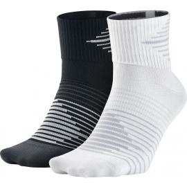 Nike PERF LTWT QTR 2PR - Bežecké ponožky