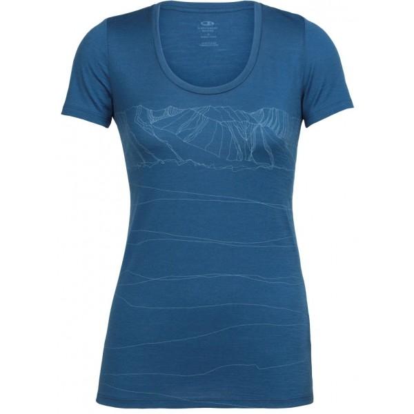 Icebreaker TECH LITE SS SCOOP PATHS - Dámske tričko