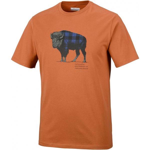 Columbia CSC CHECK THE BUFFALO II SHORT SLEEVE - Pánske tričko