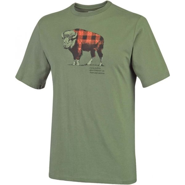 Columbia CSC CHECK THE BUFFALO II SHORT SLEEVE - Pánske tričko