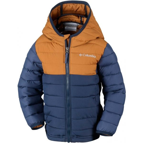 Columbia POWDER LITE BOYS HOODED JACKET - Chlapčenská zimná bunda