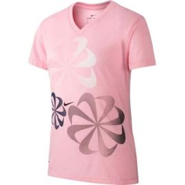 Nike NK DRY LEG TEE V SWOOSH - Dievčenské tričko