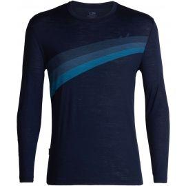 Icebreaker SPECTOR LS CREWE ASCENT STRIPE - Pánske tričko