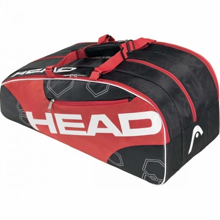 Tenisový bag - Head Elite Monstercombi red