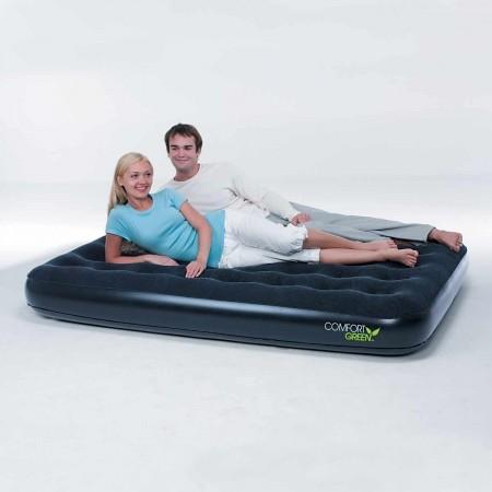 Nafukovacia posteľ - dvojlôžko - Bestway COMFORT GREEN FLOCKED AIR