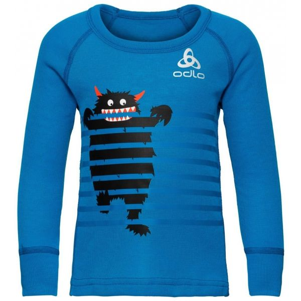 Odlo BL TOP CREW NECK L/S ACTIVE WARM TREND K - Detské tričko
